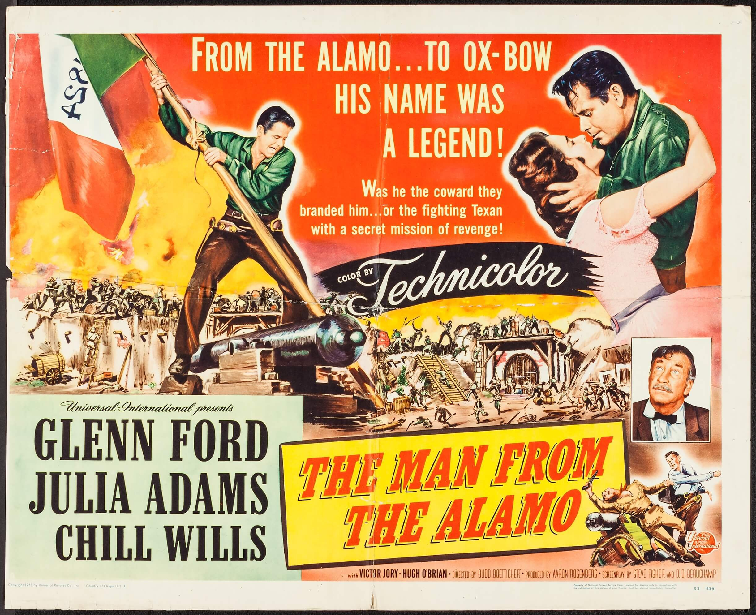 The Man from the Alamo (Universal International, 1953). Trimmed ...