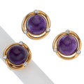 Estate Jewelry:Suites, Amethyst, Diamond, Gold Jewelry. ... (Total: 2 Items)