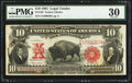 Large Size:Legal Tender Notes, Fr. 120 $10 1901 Legal Tender PMG Very Fine 30.. ...