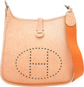 Luxury Accessories:Bags, Hermes Orange H Dalmatian Buffalo Leather Evelyne I PM Bag withPalladium Hardware. F Square, 2002.