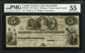 Canadian Currency: , Canada Toronto, UC - The Farmer's Joint Stock Bank $5/25 ShillingsFeb. 1, 1849 Ch. # 280-12-06.. ...