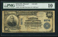 National Bank Notes:Missouri, Kirksville, MO - $10 1902 Plain Back Fr. 625 The Citizens NB Ch. # 8276. ...