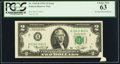 Error Notes:Foldovers, Pre-Print Foldover Fr. 1935-B $2 1976 Federal Reserve Note. PCGSChoice New 63.. ...
