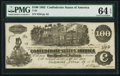 Confederate Notes:1862 Issues, T39 $100 1862 PF-4 Cr. 293. ...