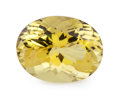 Gems:Faceted, Gemstone: Lemon Quartz - 12.21 Cts.. Brazil. 11.75 x 15.66 x8.81 mm. ...