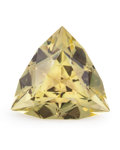 Gems:Faceted, Gemstone: Lemon Quartz - 16.46 Cts.. Brazil. 18.75 x 18.60 x11.67 mm. ...