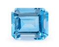 Gems:Faceted, Gemstone: Blue Topaz - 12.88 Cts.. Brazil. 12.18 x 14.18 x 8.35mm. ...