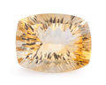 Gems:Faceted, Gemstone: Citrine - 14.33 Cts.. Brazil. 14.09 x 18.05 x 9.19mm. ...