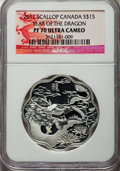 "Canada, Canada: Elizabeth II Proof ""Year of the Dragon"" Scalloped 15Dollars 2012 PR70 Ultra Cameo NGC,..."