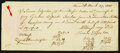 Colonial Notes, Norwich, (CT) Loan Agreement £12.17s March 27, 1800.. ...