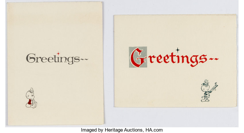 Walt kelly signed personal greeting cards group of lot 11699 memorabiliacomic related walt kelly signed personal greeting cards group of 2 m4hsunfo