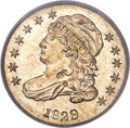 Bust Dimes, 1829 10C Small 10C, JR-7, R.1, MS65 PCGS. CAC....