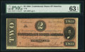 Confederate Notes:1864 Issues, T70 $2 1864 PF-4 Cr. 566.. ...