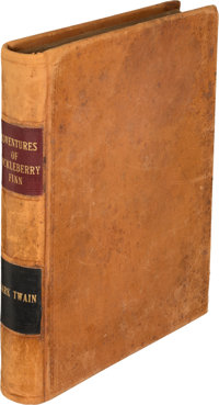 Mark Twain. Adventures of Huckleberry Finn. New York: Charles L. Webster and Company, 1885. Fir