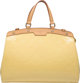 "Louis Vuitton Yellow Monogram Vernis Leather Brea MM Bag Condition: 2 8"" Width x 13"" Height x 5"" Depth Th..."