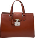 Luxury Accessories:Bags, Gucci Red Leather Tote Bag with Silver Hardware
