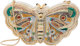 """Judith Leiber Full Bead Silver Crystal Butterfly Minaudiere Evening Bag Condition: 3 6"""" Width x 4"""" Height x 3..."""