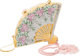 """Judith Leiber Full Bead Silver & Pink Crystal Fan Minaudiere Evening Bag Condition: 2 7"""" Width x 5"""" He..."""