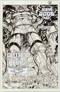 Original Comic Art:Splash Pages, Rick Hoberg and Willie Blyberg New Gods #20 Splash Page 1Original Art (DC, 1990)....
