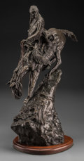 Fine Art - Sculpture, American, American School (20th Century). Mountain Man. Bronze withbrown patina. 27-1/2 inches (69.9 cm) high on a 1-1/2 inches (...
