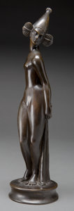Fine Art - Sculpture, American:Modern (1900 - 1949), A Patinated Bronze Figure, 20th century. Bronze with brown patina.16-1/2 inches high (41.9 cm). ...