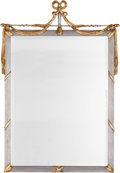 Furniture : Continental, A Biedermeier Pier Mirror and Partial Giltwood Directoire-StyleMirror, 19th century and later. 60 inches high x 26-1/4 inch...(Total: 2 Items)
