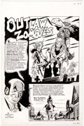 "Original Comic Art:Complete Story, Dick Ayers Dread of Night: ""Outlaw Zombies"" CompleteUnpublished 8-Page Story Original Art (Hamilton Comics, 1992)...(Total: 8 Original Art)"