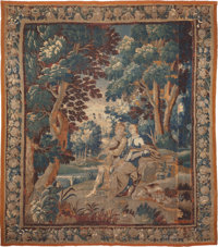 A Flemish Verdure Tapestry, 18th century with later elements 113 inches high x 99 inches wide (287.0 x 251.5 cm)