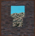 Fine Art - Painting, American, Richard Mason (American, 1951-1993). Chaco Door III. Acrylic on rice paper with collage. 22 x 21 inches (55.9 x 53.3 cm)...