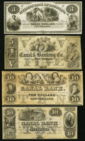 Obsoletes By State:Louisiana, New Orleans, LA- Citizens' Bank of Louisiana $3 18__ Remainder;. New Orleans, LA- New Orleans Canal and Banking Company ... (Total: 4 notes)