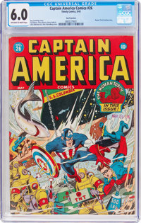 Captain America Comics #26 San Francisco Pedigree (Timely, 1943) CGC FN 6.0 Off-white to white pages