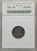 Bust Dimes: , 1834 10C Small 4 XF40 ANACS. NGC Census: (16/239). PCGS Population:(9/185). XF40. Mintage 635,000. ...