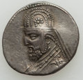 Ancients:Oriental, Ancients: PARTHIAN KINGDOM. Mithradates III (ca. 87-80 BC). AR drachm (4.12 gm). About XF....