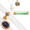 Estate Jewelry:Lots, Multi-Stone, Diamond, Cultured Pearl, Gold Jewelry. ... (Total: 5 Items)