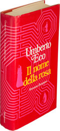 Books:Mystery & Detective Fiction, Umberto Eco. Il nome della rosa. [The Name of theRose]. [Milan]: Bompiani, [1980]. First edition, signed by t...