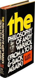 Books:Original Art, Andy Warhol. The Philosophy of Andy Warhol (From A to Band Back Again). New York: Harcourt Brace Jovanovich, [1...