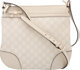 """Gucci Off-White Guccisima Leather Small Mayfair Bag Condition: 2 12.25"""" Width x 11.25"""" Height x 1"""" Depth..."""