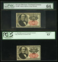 Fractional Currency, Fr. 1308 25¢ Fifth Issue PMG Choice Uncirculated 64;. Fr. 1308 25¢Fifth Issue PCGS Choice New 63.. ... (Total: 2 notes)