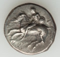 Ancients:Ancient Lots , Ancients: ANCIENT LOTS. Greek. Calabria. Tarentum. Ca. 281-240 BC.Lot of two (2) AR staters. Fine-VF.... (Total: 2 coins)