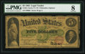 Large Size:Legal Tender Notes, Fr. 61c $5 1862 Legal Tender PMG Very Good 8.. ...