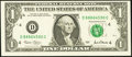 Error Notes:Ink Smears, Green Ink Smears Fr. 1926-D $1 2001 Federal Reserve Note. VeryFine-Extremely Fine.. ...