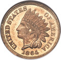 Patterns, 1864 1C Indian Cent, Judd-356, Pollock-426, Snow-PT1b, Low R.6, MS65 NGC....