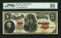 Large Size:Legal Tender Notes, Fr. 88 $5 1907 Legal Tender PMG Choice Very Fine 35.