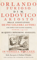 Books:Literature Pre-1900, Lodovico Ariosto. Orlando Furioso... Venice: 1730. Illustrated edition....