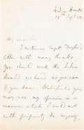Books:Philosophy, John Stuart Mill. Autograph Letter Signed. India House: 29 Sept. 1848. Four sides of a folded 9 x 7 inch sheet (228 × 175 mm...