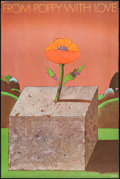 """Movie Posters:Miscellaneous, From Poppy with Love by Milton Glaser (Milton Glaser, 1962). Poster (36"""" X 24""""). Miscellaneous.. ..."""