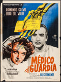 """Movie Posters:Foreign, Médico de guardia (Mier Y Brooks, 1950). Mexican One Sheet (27"""" X 36.5""""). Foreign.. ..."""
