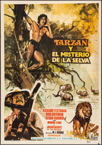 "Green Inferno & Other Lot (Profilms, 1973). Mexican One Sheet (27.5"" X 39.25"") & Belgian (21.5"" X..."