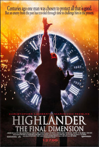 Highlander: The Final Dimension & Other Lot (Dimension/Highlight Film, 1994/1995). Rolled, Very Fine. One Sheets (4)...