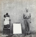 Photographs:Gelatin Silver, Ralph Eugene Meatyard (American, 1925-1972). Untitled (Man withhook). Gelatin silver, printed later. 7 x 7 inches (17.8...